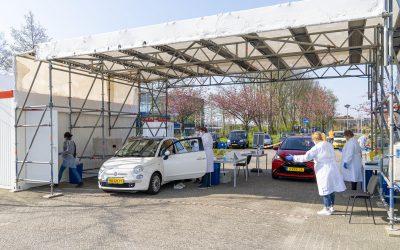 Covid teststraat op duurzame energie dankzij Loveland